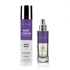 Set-Aroma-Kai-Body-Lotion-White-Musk-Bee-Factor-Natural-Cosmetics
